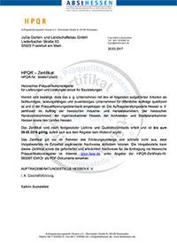 HPQR Zertifikat Hessen